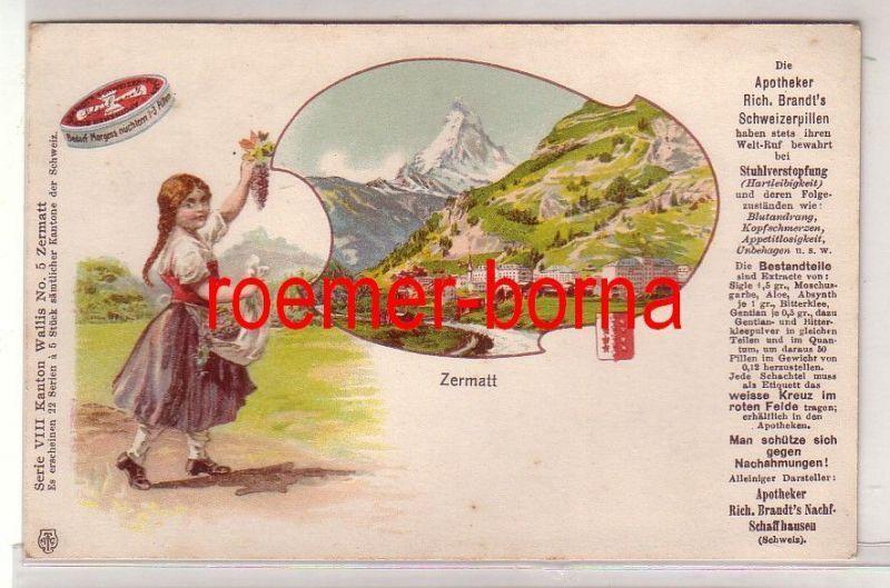 68598 Reklame Ak Zermatt Apotheker Brandts Schweizerpillen um 1900