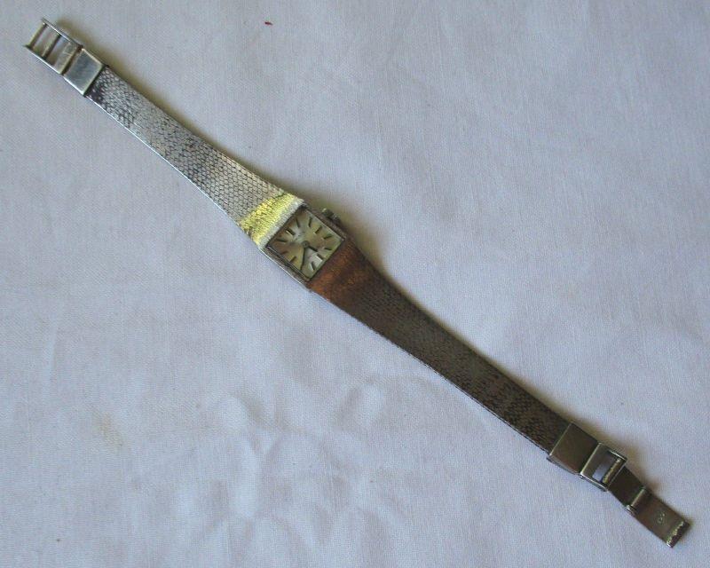 Alte 800er Silber Damen Armbanduhr formatic antichoc mit Handaufzug (125476)