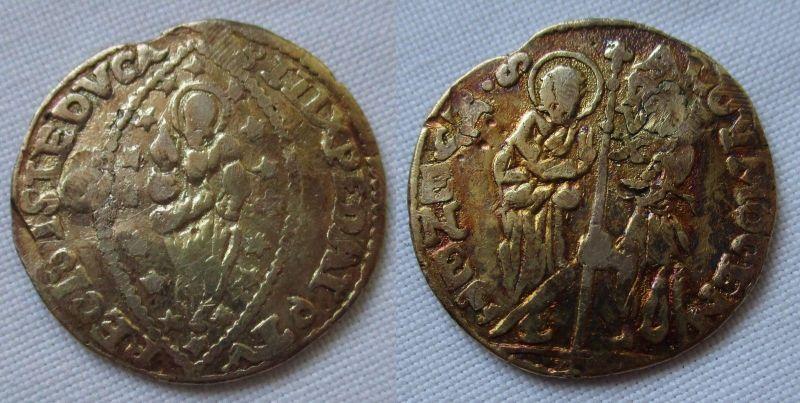 Seltene Gold Münze Dukat 1700 1709 Italien Venedig Alvise Ii