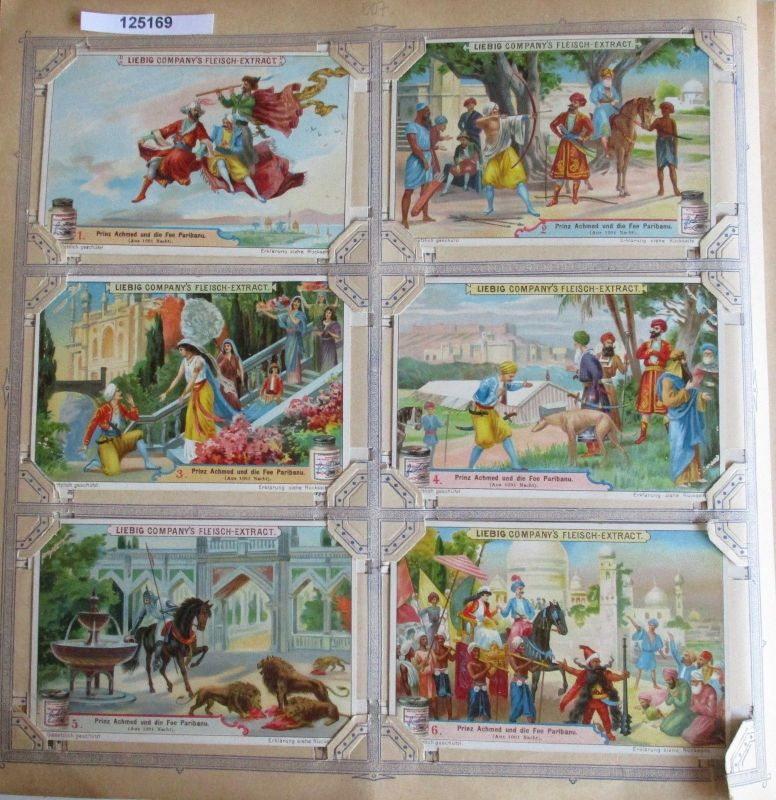 A125169 Liebigbilder Serie Nr. 507 Prinz Achmed und die Fee Paribanu 1901