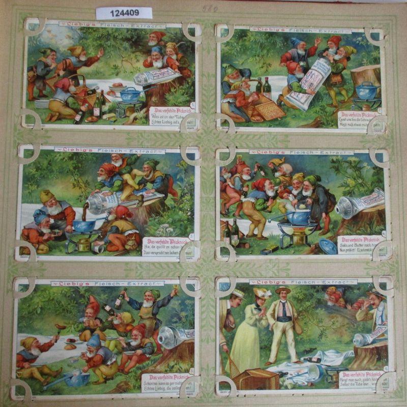 C124409 Liebigbilder Serie Nr. 580 Das verfehlte Picknick 1903