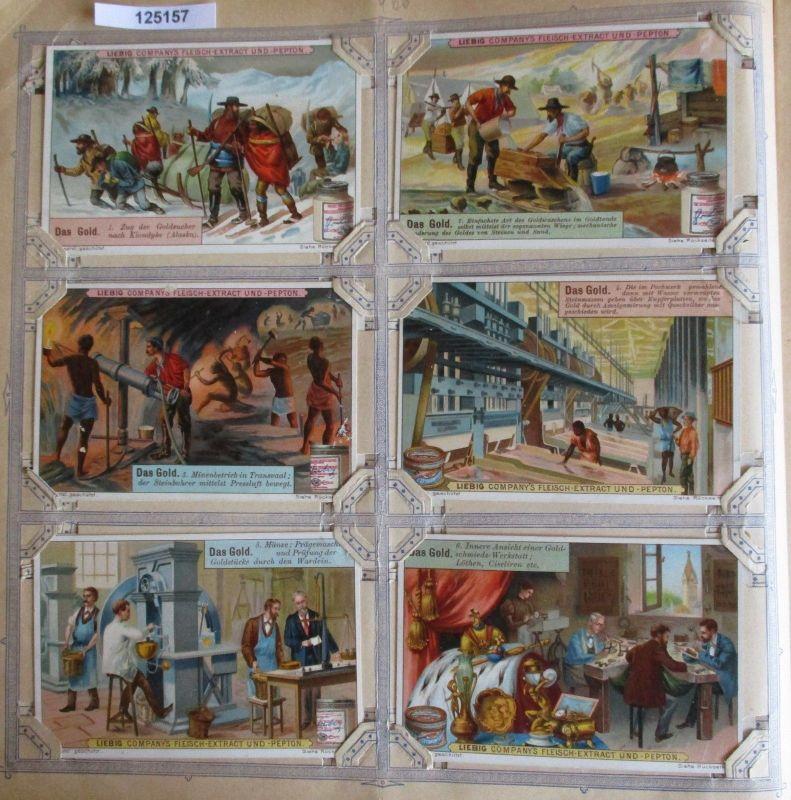 A125157 Liebigbilder Serie Nr. 466 Das Gold 1900