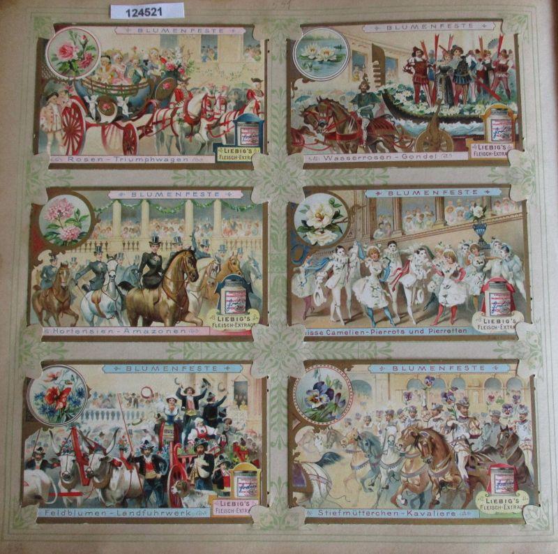 C124521 Liebigbilder Serie Nr. 551 Blumenfeste I 1903