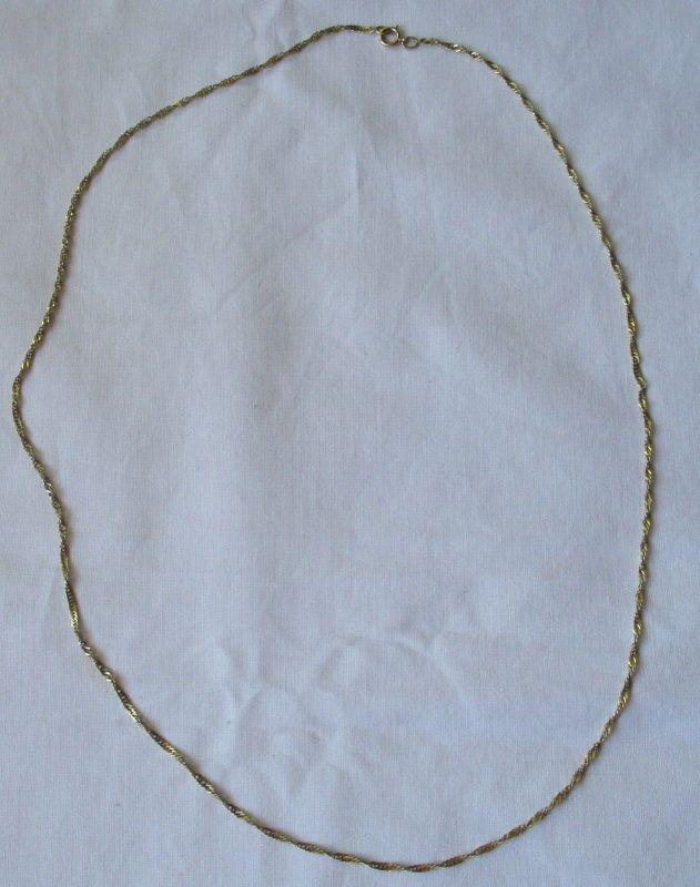 Zierlich charmante 585er Gold Damen Halskette (125444)