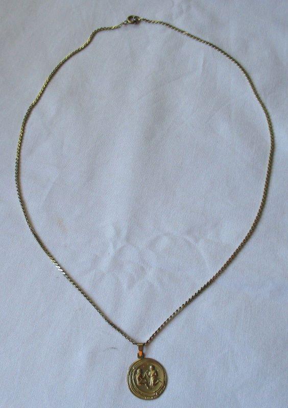 Hübsche 333er Gold Damen Halskette mit Anhänger Sternzeichen Zwilling (125445)