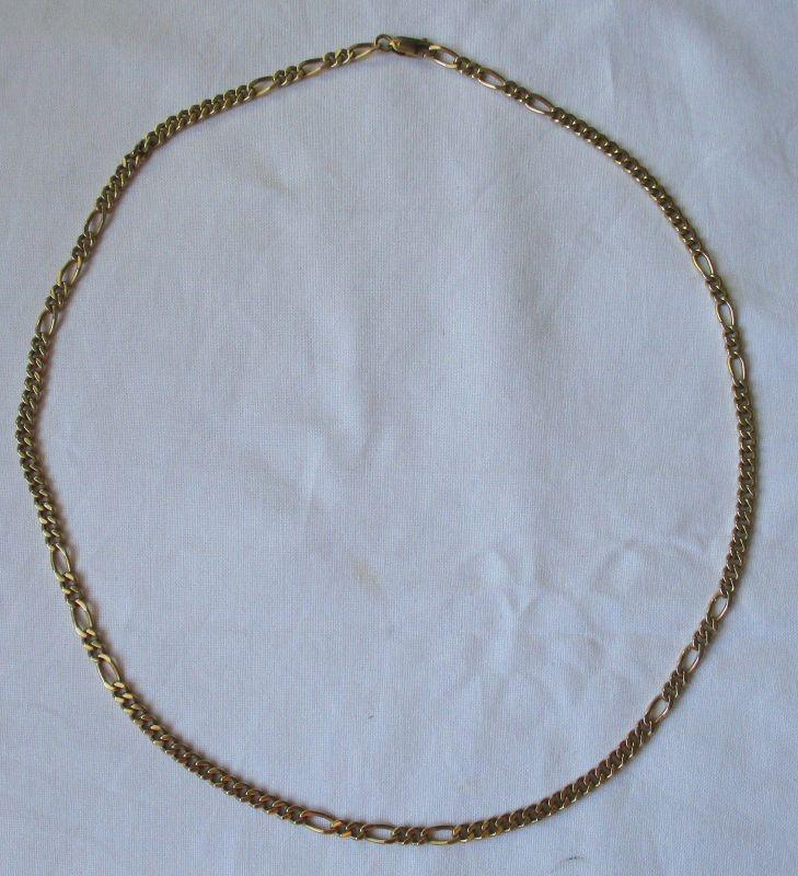 Wunderschöne 585er Gold Damen Halskette L 52,5 cm (125447)