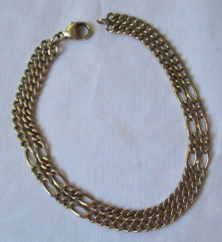 Charmantes 585er Gold Glieder Damen Armband L 22,5 cm (125451)
