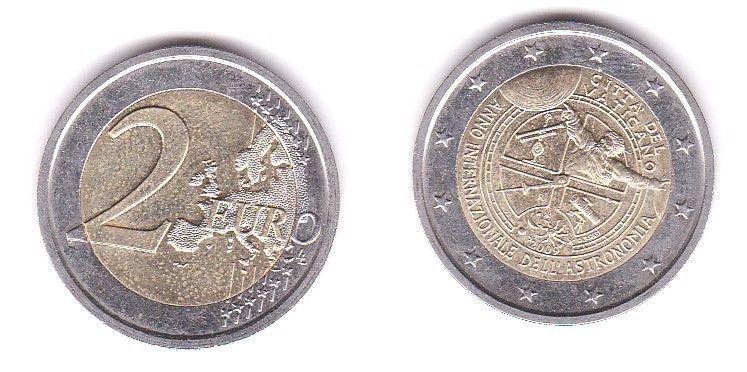 2 Euro Bi-Metall Münze Vatikan Jahr der Astronomie 2009 (117825)