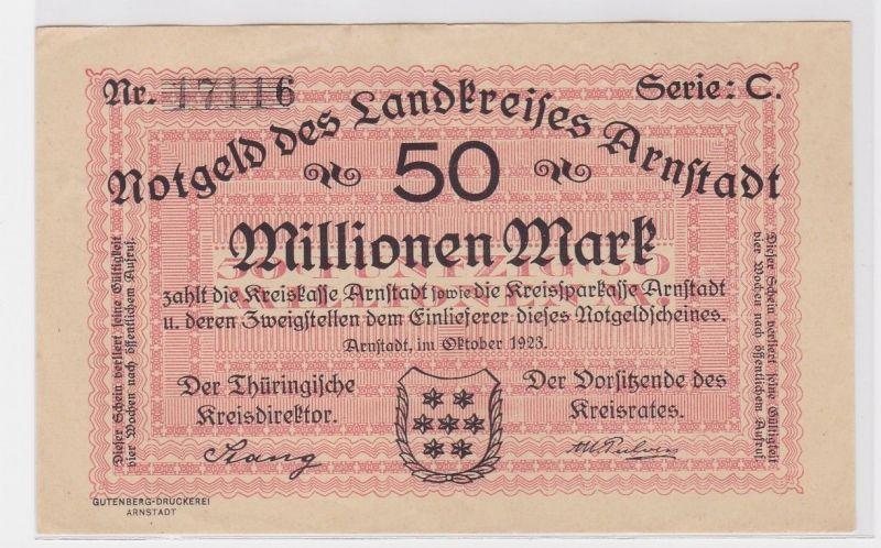 50 Millionen Mark Banknote Landkreis Arnstadt Oktober 1923 (122434)