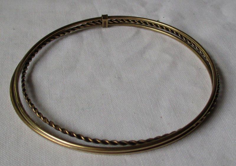 Eleganter 333er Gold Armreifen bestehend aus 3 goldenen Ringen (125289)