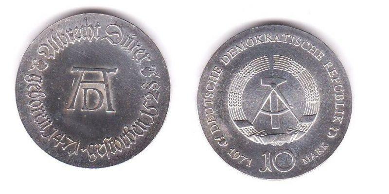 DDR Gedenk Silber Münze 10 Mark Albrecht Dürer 1971 (119523)