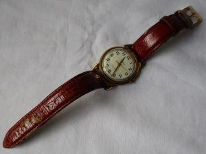 Alte vergoldete Herren Armbanduhr Marke Kirovskie Handaufzug TOP (125299)