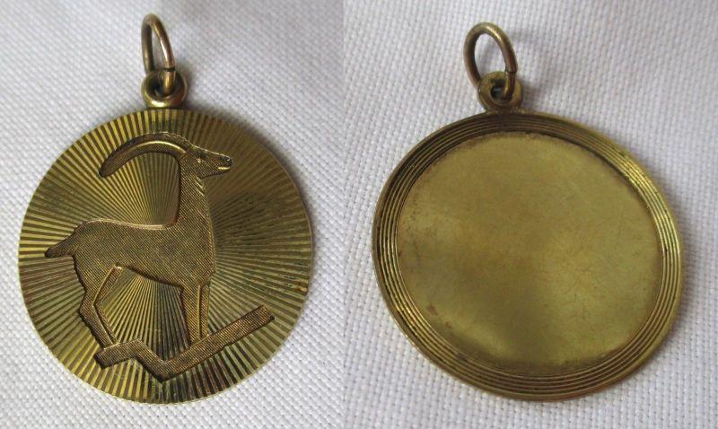 Eleganter 333er Gold Ketten Anhänger Sternzeichen Steinbock (125298)