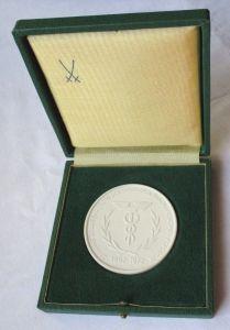 DDR Porzellan Medaille 20 Jahre Zollverwaltung der DDR im Original Etui (124759)