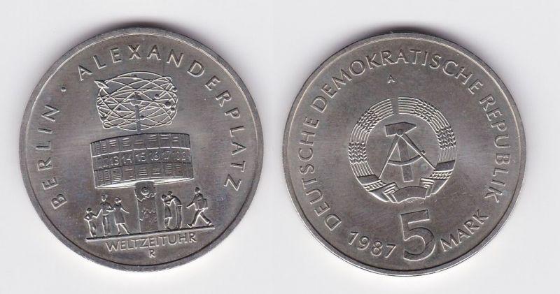 Ddr Gedenk Münze 5 Mark 750 Jahre Berlin Alexanderplatz 1987 122382