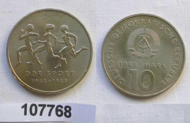 DDR Gedenk Münze 10 Mark 40 Jahre DDR Sport 1988 (107768)