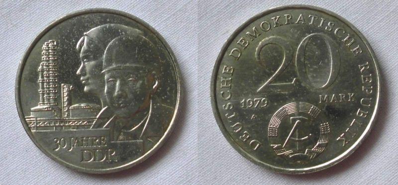 DDR Gedenk Münze 20 Mark 30.Jahrestag der DDR 1979 (123490)