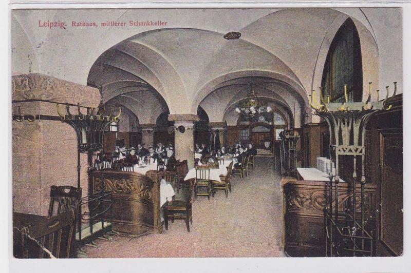 85750 Ak Leipzig Rathaus mittlerer Schankkeller 1910