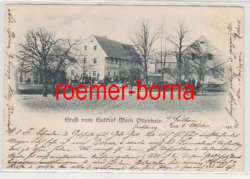 79849 Ak Gruß vom Gasthof Mark Ottenhain 1904