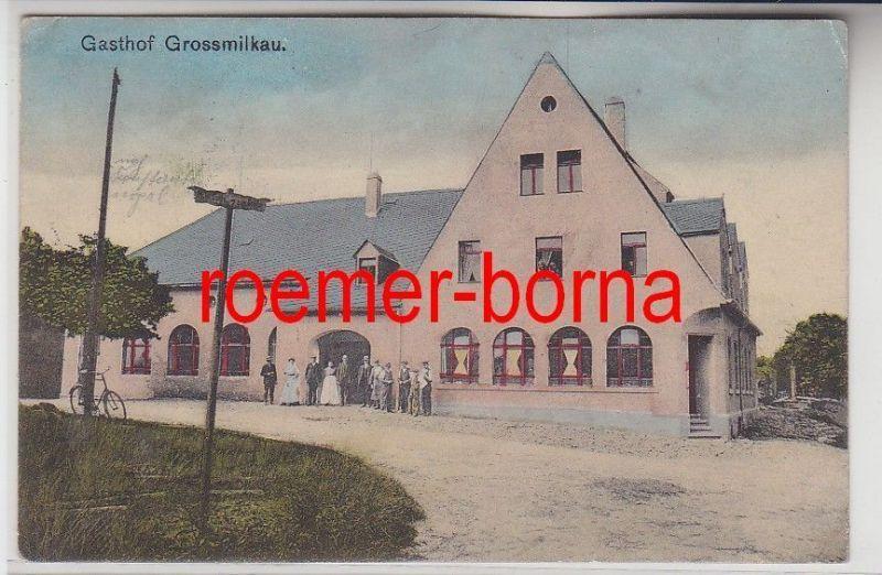 79985 Ak Gasthof Grossmilkau in Sachsen um 1910