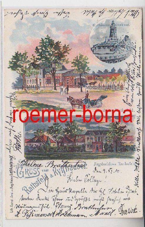 74920 Mehrbild Ak Gruß vom Gasthaus Rathsfeld am Kyffhäuser 1900