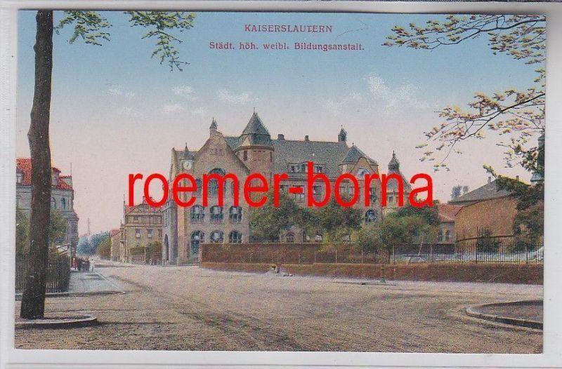 78265 Ak Kaiserslautern städt.höhere weibliche  Bildungsanstalt 1918