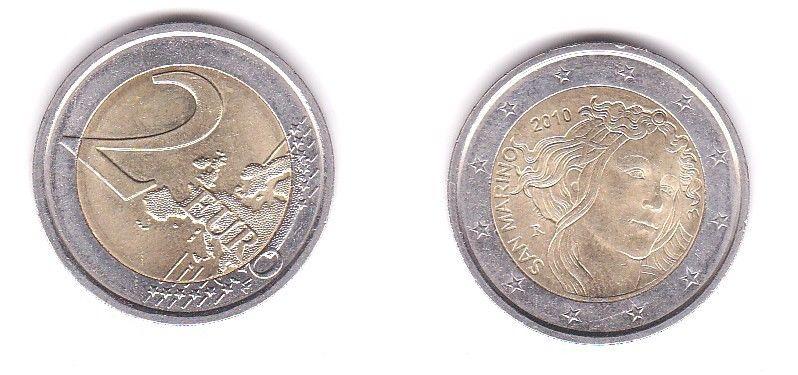 2 Euro Bi-Metall Münze San Marino Sandro Botticelli 2010 (116393)