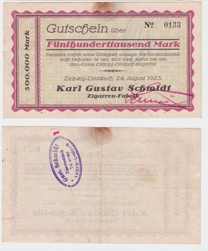 500000 Mark Banknote Leipzig Leutzsch Zigarrenfabrik Karl Gustav Schmidt(121979)