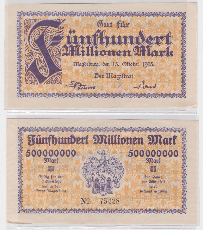 500 Millionen Mark Banknote Stadt Magdeburg 15.10.1923 (122441)