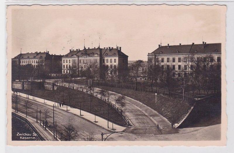 91370 Ak Zwickau in Sachsen Kaserne des 133.Regiments 1938