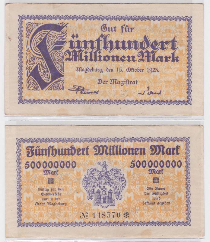 500 Millionen Mark Banknote Stadt Magdeburg 15.10.1923 (122459)