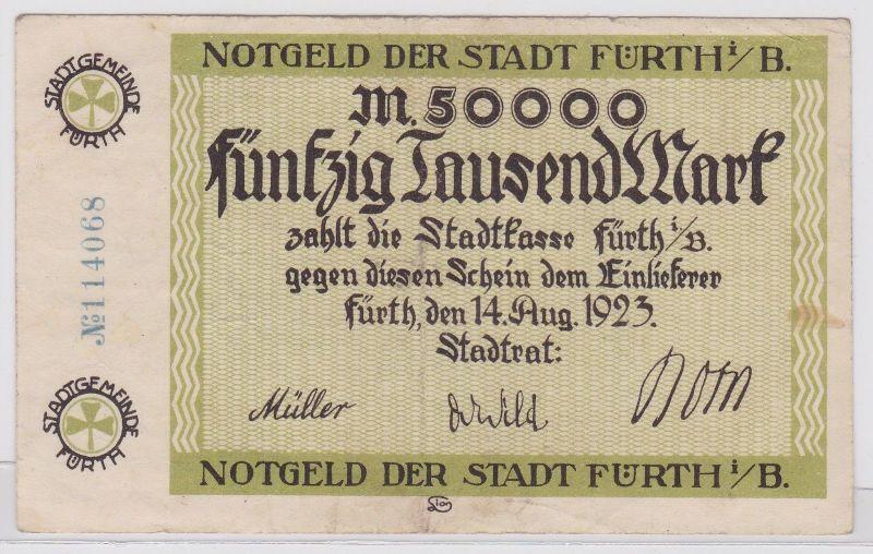 50000 Mark Banknote Stadt Fürth i.B. 14.8.1923 (120495)