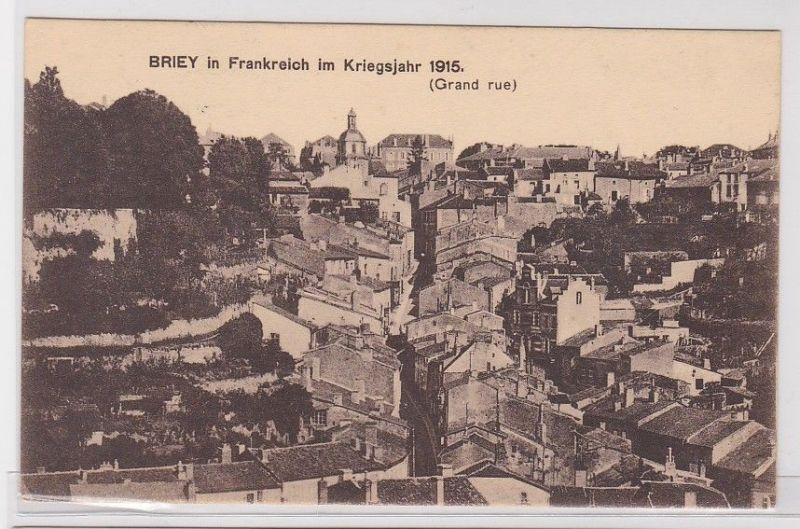 79235 Feldpost AK Briey in Frankreich im Kriegsjahr 1915 (Grand rue) Westfront