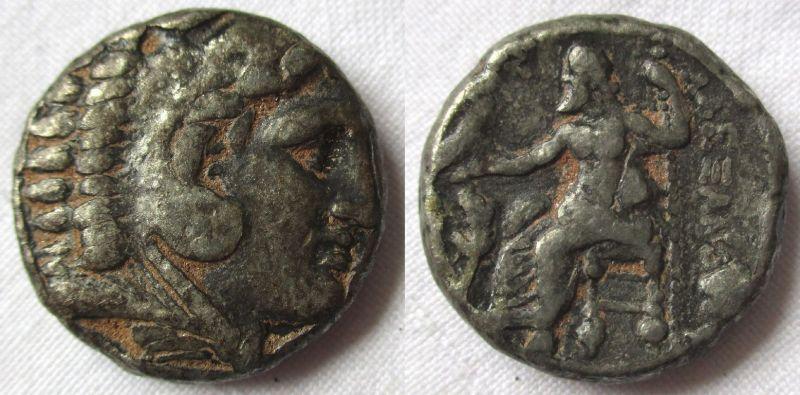 DIONYSOS Makedonien Alexander der Große AR Tetradrachme Arados Zeus (119649)