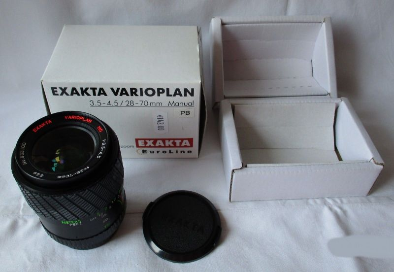 Exakta Varioplan 3.5-4.5 28-70mm red MC Objektiv No. 933100 (109499)