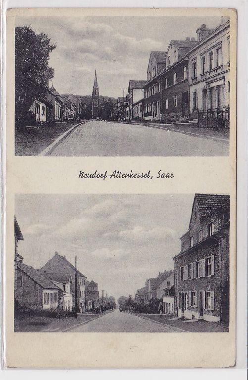 88615 Mehrbild AK Neudorf-Altenkessel, Saar - Straßenansichten m. evangl. Kirche 0
