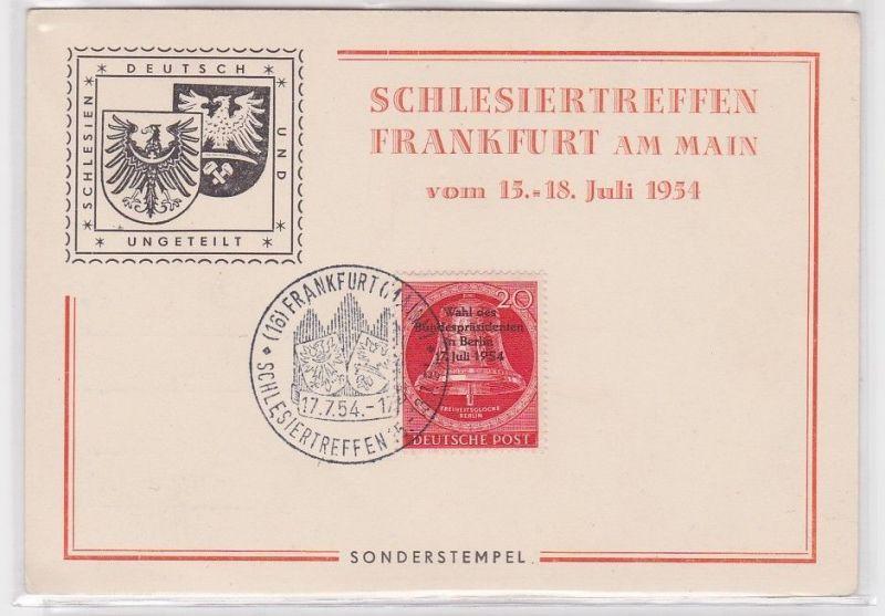 69924 Ak Schlesiertreffen Frankfurt am Main 15.-18.Juli 1954 mit Sonderstempel 0