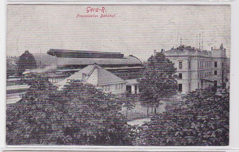 92541 Ak Gera Reuss preussischer Bahnhof 1943 0