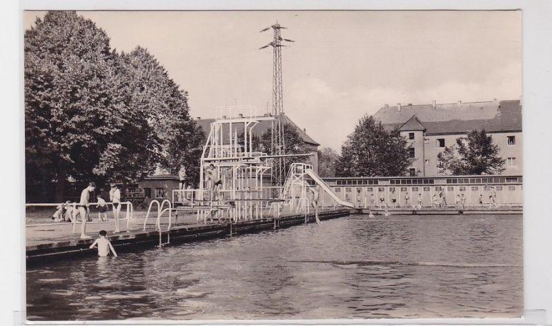 92543 Ak Gera Sommerbad mit Rutsche und Sprungturm 1961 0