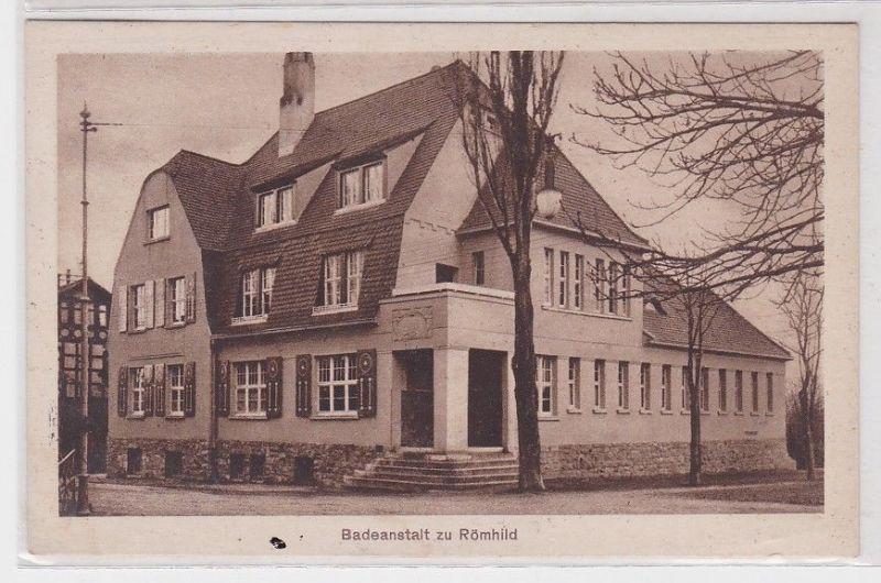 91090 Ak Badeanstalt zu Römhild 1944 0
