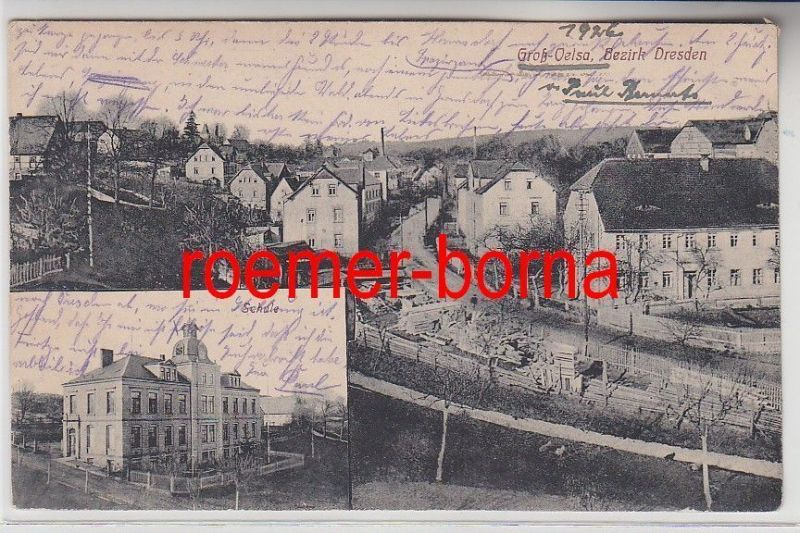 74529 Mehrbild Ak Groß-Oelsa Bezirk Dresden 1926 0