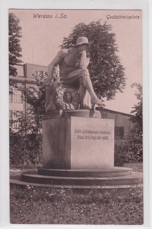 91980 Ak Werdau in Sachsen Gedächtnisplatz 1931 0