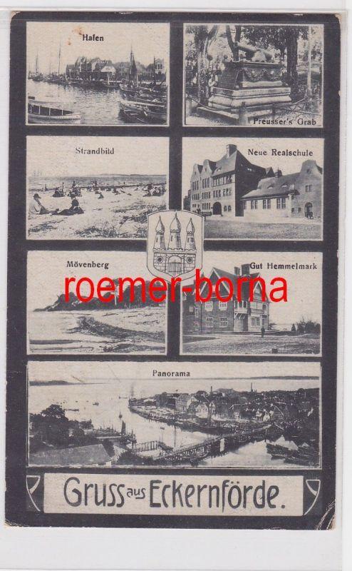 84971 Mehrbild Ak Gruss aus Eckernförde 1920 0
