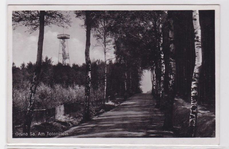 92318 Feldpost Ak Grüna in Sachsen am Totenstein 1941 0