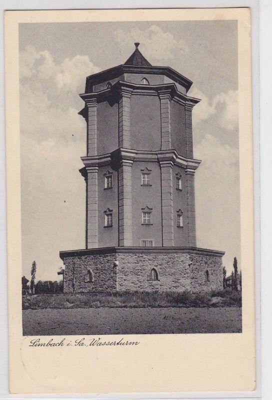 92088 Ak Limbach in Sachsen Wasserturm 1937 0