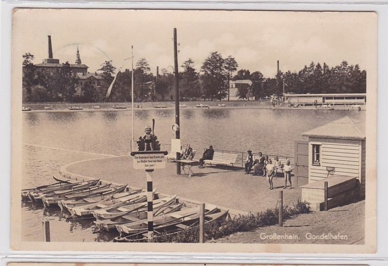 92331 Ak Großenhein Gondelhafen 1937 0