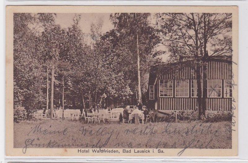 92326 Ak Bad Lausick in Sachsen Hotel Waldfrieden 1933 0