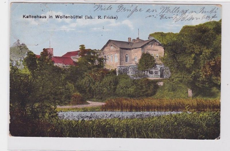 92327 Ak Kaffeehaus in Wolfenbüttel 1923 0