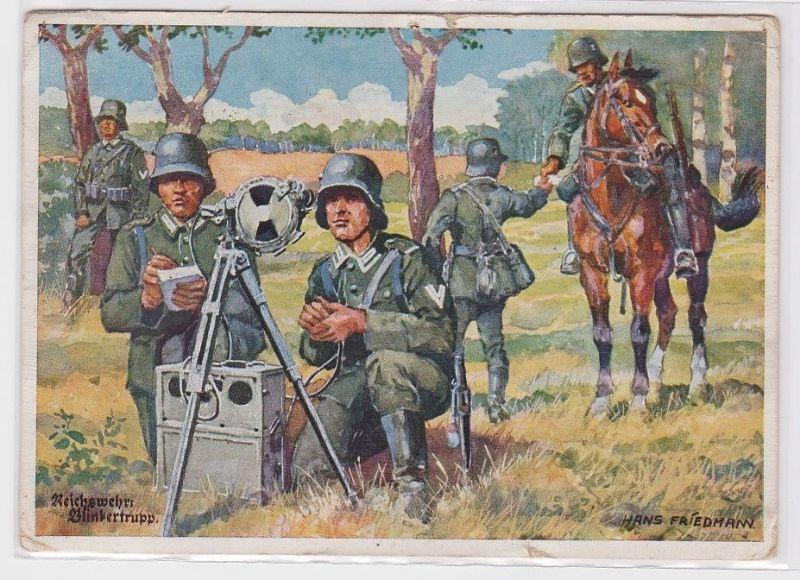 90528 Feldpost Militär Ak Reichswehr Blinkertrupp 1940 0