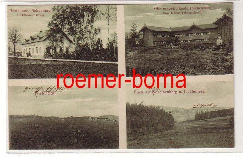 80556 Mehrbild Ak Erzgebirge Restaurant Finkenburg b. Elterlein u.a. 1908 0